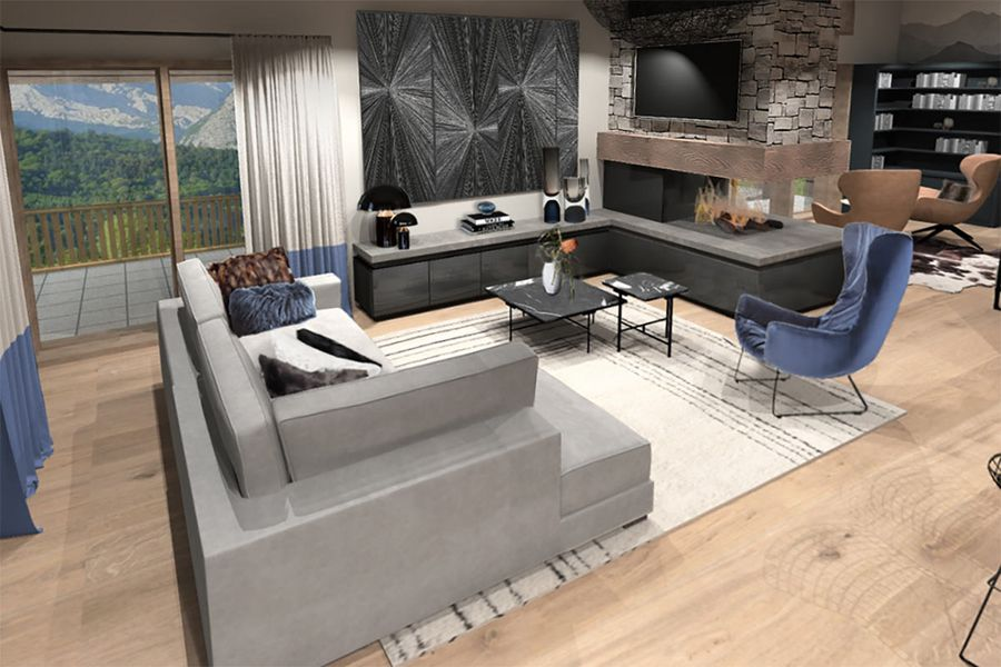 Das Penthouse mit alpinem Flair